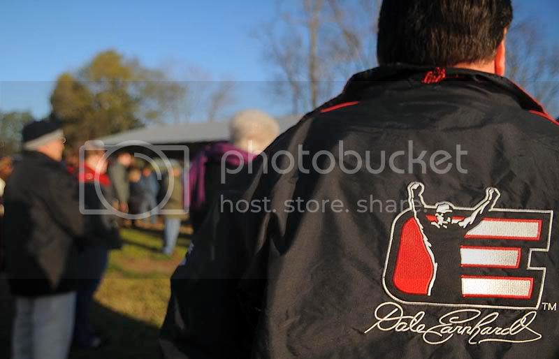 Dale Earnhardt jacket, arms up